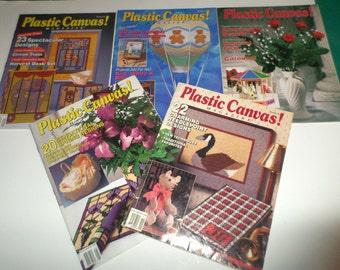 Vintage Plastic Canvas Patterns - Plastic Canvas Magazines - 5 Issues, 5, 7, 8, 9, 10 - Over 80 Plastic Canvas Patterns - Set 2