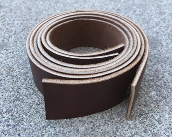 Set of 2 Smooth Brown Leather Straps