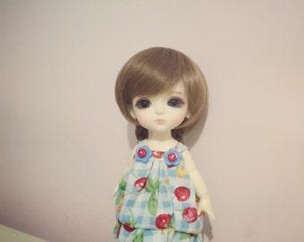 Strawberry Pattern bubble dress for Lati Yellow  or Pukifee