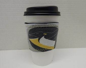 Reusable Up Cycled Drink Wrap NHL Penguins