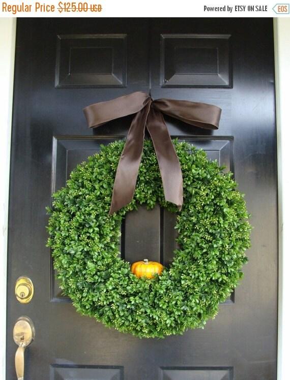 WREATH SALE Pumpkin Fall Wreath, Fall Decor, Thanksgiving Wreath with personalized pumpkin, Fall Pumpkin Wreath, Fall Decor