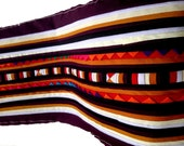 Hmong Textile, Lisu Fabric, hmong fabric, crafting, red, purple, reddish-purple, hill tribe, quilted, embroidered, fabric, stripe, quilt