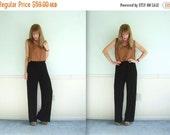 30% off ... Slouchy Black 90s High Waist Nylon Trouser Pants - MEDIUM M