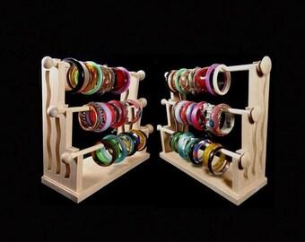 ON SALE Mission Style Standing Bracelet Holder Organizer Storage Display Oak