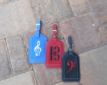Luggage Tag--Alto, Bass, Treble Clef