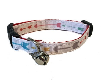 Arrow Cat Collar with Breakaway Safety Buckle