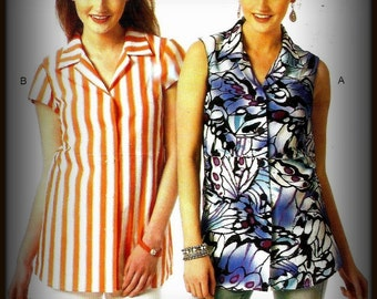 Women's Blouse Pattern - Includes Plus Sizes – Butterick B6042 – Sizes 10 thru 26 – Bust 32 thru 48 inches - New and Uncut
