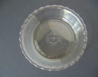 Vintage Pyrex 6 Inch Mini Pie Baking Dish - Tart Baking Dish - Clear Glass