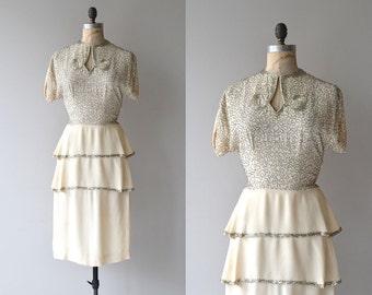 Lux Eterna dress | vintage 1940s dress | beaded 40s dress