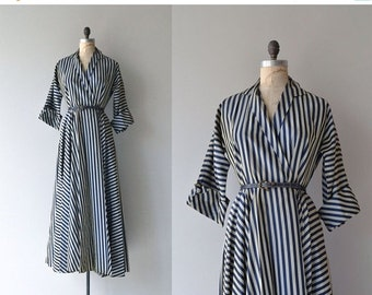 25% OFF.... Frontispiece gown | vintage 1950s wrap dress | 50s coat dress
