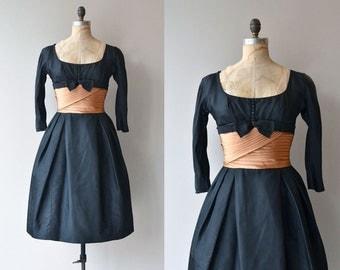 Lorillard Tuxedo dress | vintage 1950s dress | 50s party dress