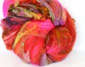 Happy Hour 3.8 oz  Wool - Merino- Art Batt // Wool Art Batt for spinning or felting