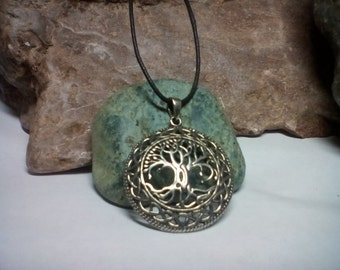Celtic Tree of Life Pendant -  Tree of Life Amulet Talisman - Detailed Celtic Knot work Jewelry - Domed Fine Artisan Cast Charm