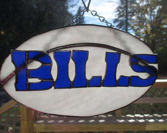 Stained Glass Buffalo Bill Plaque