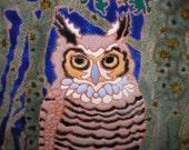 Great Horned Owl bird tile -CUSTOM ORDER - 4-6 wks production time-, birders,kitchen, bath, fireplace surround or framed