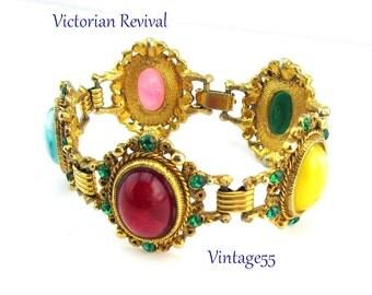 Bracelet Victorian Revival Rhinestone Faux Gemstone