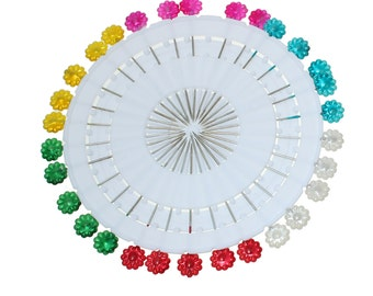 """Flower Sewing Pins - Set of 30 pins - 2 1/8"""""""