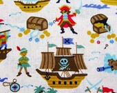 Peter Pan Fabric Captain Hook - Cotton Linen Blend By The Yard - Half Yard
