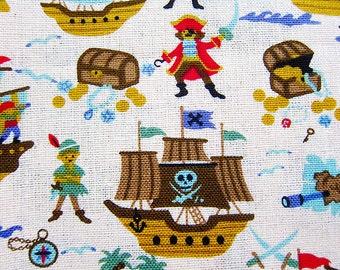 Peter Pan Fabric Captain Hook - Cotton Linen Blend - Half Yard