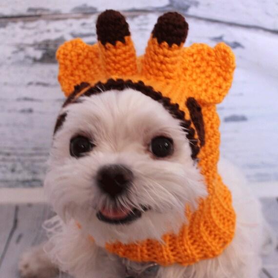 Crochet Giraffe Hat Pattern For Dogs : Dog hat crochet dog hat snood snood for dog Dog accessory