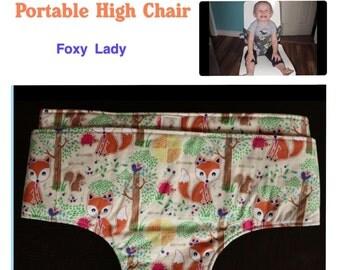 Portable High Chair- Foxy Lady