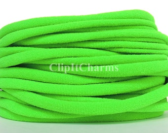 Wholesale .39+Neon Green Stretch Nylon Chokers...Use for bottle cap jewelry,pendants,charms, headbands/doubles as a bracelet or anklet....