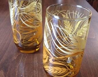 Pair of Vintage Juice Glasses