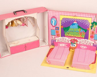 World of Barbie Sleep'n Keep Case Mattel 1974 Vintage Barbie Doll Carrying Case Accessories Clothing Retro Pretend Play