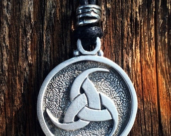 Viking Triple Horn of Odin Pewter Pendant