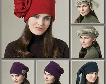 Vogue Patterns V8704 - Misses Hat Sewing Pattern - Out of Print - Uncut, FF
