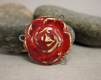 Rose Connector in Rustic Red