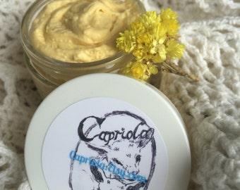 anti-aging Goat Milk cream | Sea Buckthorn | Helichrysum | Rose Hip + Argan | Goat Milk | organic Hemp + Coconut | Immortelle flowers