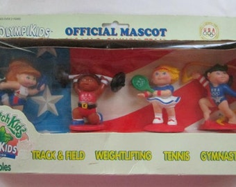 Vintage Cabbage Patch Kids Olympikids 1996 Collectible Set in box