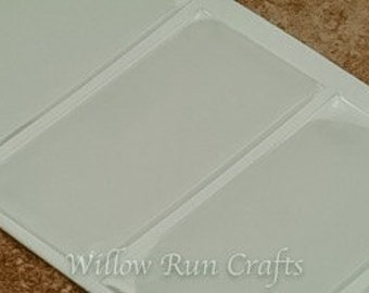 20 Pack 25 x 50mm Rectangle Clear Epoxy Domes, Resin Stickers (01-05-206)