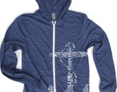 Unisex Vintage ANCHOR Eco Heather Hoody - XS S M L XL in 4 colors