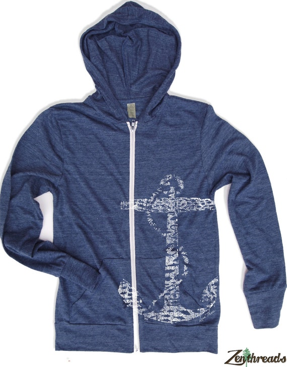 Unisex ANCHOR Eco Lightweight Hoody - XS S M L XL (6 colors)