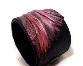 40% OFF Elegant women's leather cuff bracelet  Wristband Leather jewelry