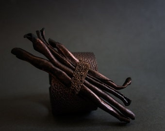 40% OFF Sale OOAK leather rustic  bracelet cuff Statement jewelry Wide wristband
