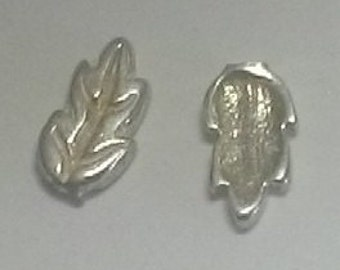 10mm long ~ Sterling Silver Cast Leaves for Soldering projects ~ To Be ORDERED for you ~ L42 ~ FDK