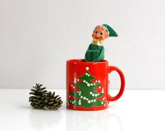 Vintage Waechtersbach Germany Christmas Tree Mug