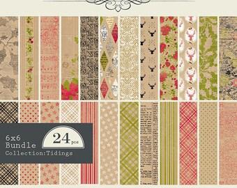 Authentique 6x6 Paper Pad - Tidings Collection