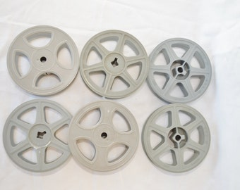 Vintage LOT of 6 Small Film Reels Made by Kodak, American Molded, and Tayloreel Good Condition