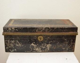 Vintage Metal Decorative Box 1950's 60's Great Patina