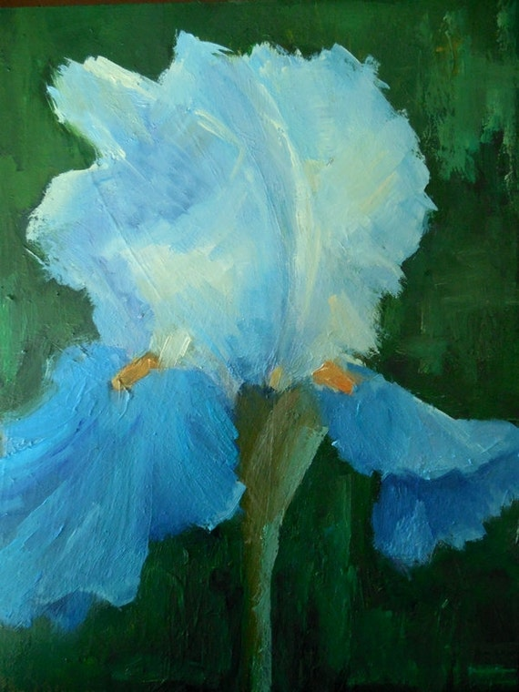 Small Flower Painting Iris Painting Floral Oil Painting