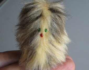 Furry Monster miniature stuffed animal  Fur-bitz doll