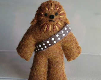 Chewbacca plush felt miniature Star Wars character toy