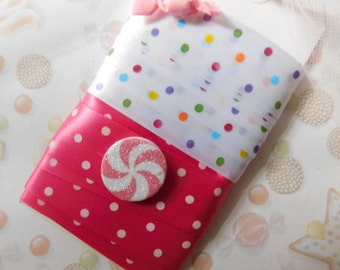 Polka Dotted Ribbon - Four Yards