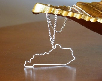 Kentucky State Outline Necklace