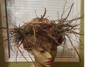 Head wreath wild woodland forest twig fern man woman grass elf fairy renaissance circlet