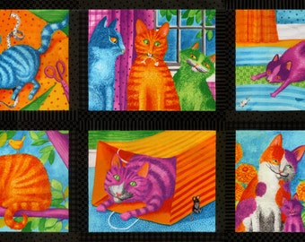 """Weekly Special! Weekly Special! Prisma Cats 24""""x44"""" Panel Black"""